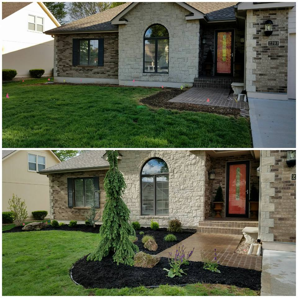Midwest Lawn & Garden before and after landscape